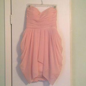 Light pink bridesmaid dress